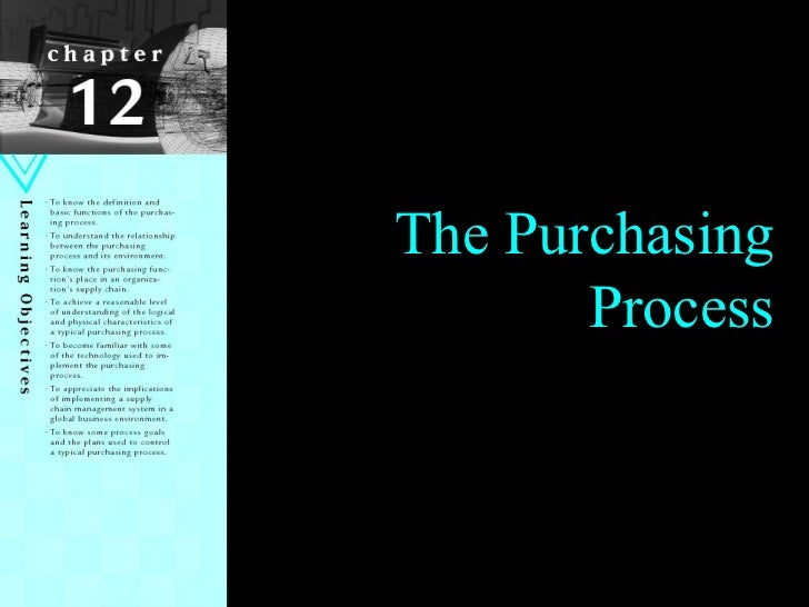 Chapter 1 The Purchasing Process