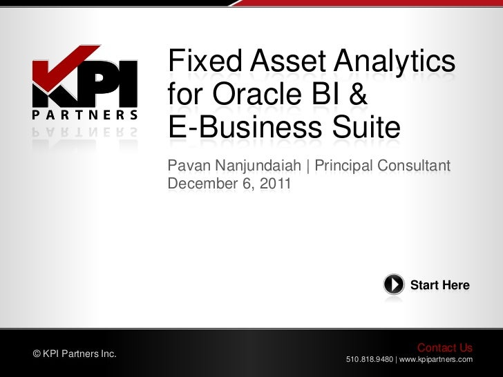 Fixed Asset Analytics                      for Oracle BI &                      E-Business Suite                      Pava...
