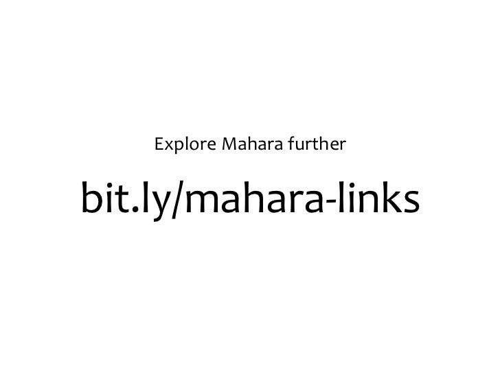Mahara: Establishing and maintaining a PLN