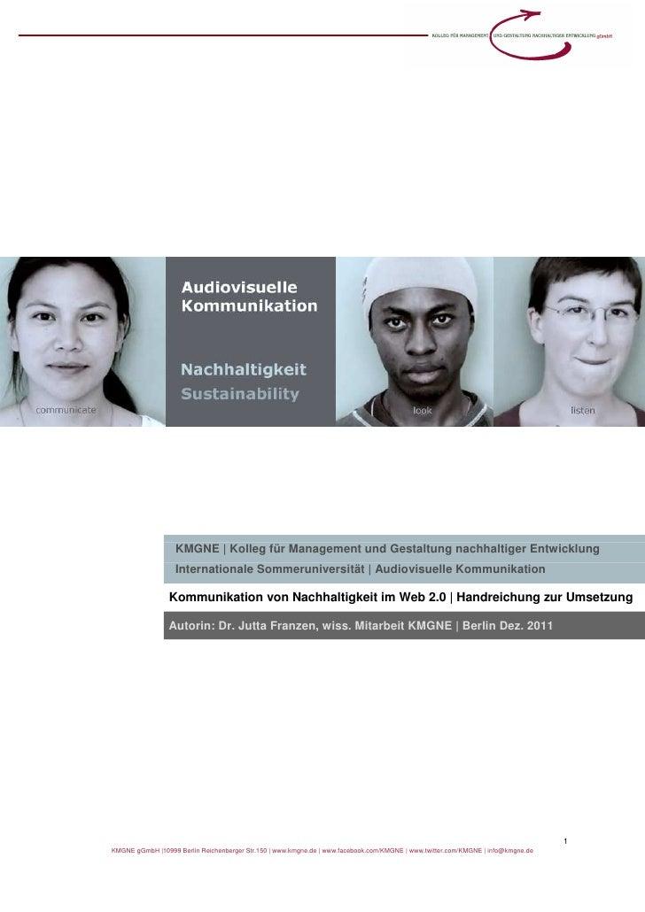 KMGNE | Kolleg für Management und Gestaltung nachhaltiger Entwicklung                   Internationale Sommeruniversität |...