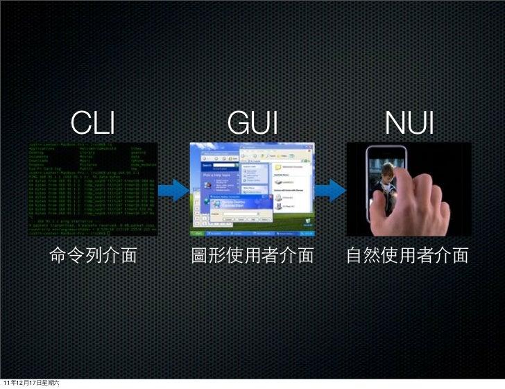 CLI   GUI   NUI11   12   17