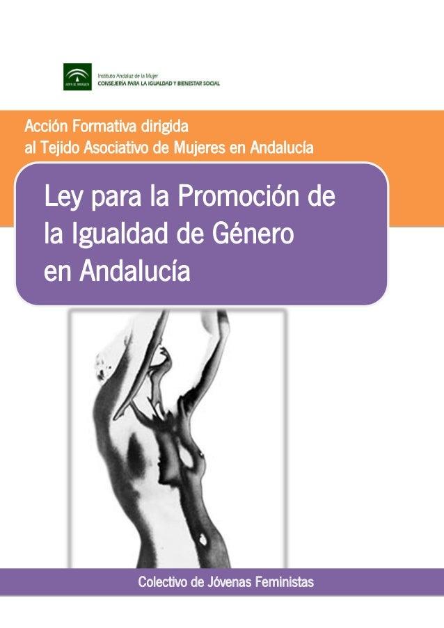 Acción Formativa dirigida al Tejido Asociativo de Mujeres en Andalucía  Ley para la Promoción de la Igualdad de Género en ...