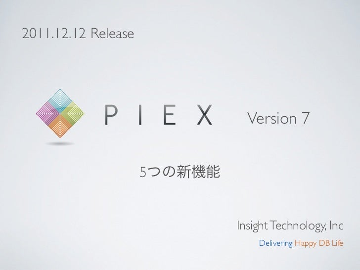 2011.12.12 Release                           Version 7                     5                         Insight Technology, I...