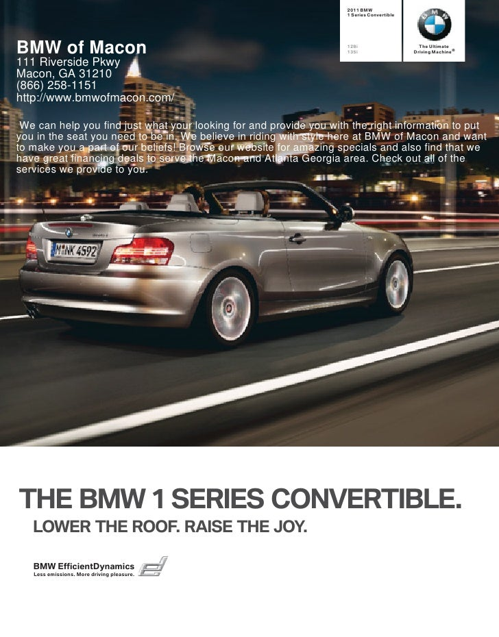 2011 BMW                                                                     1 Series Convertible     BMW of Macon        ...