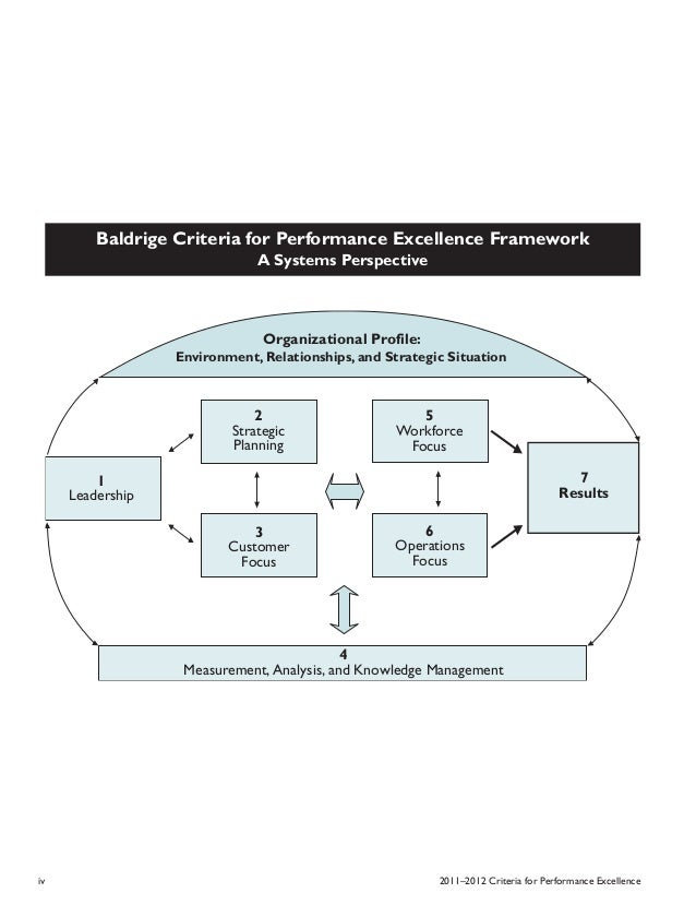 criteria for performance excellence business essay Criteria for performance excellence begin with the organizational profile the organizational profile is the most appropriate starting point for self-assessment and for writing an application it is criti- cally important for the following reasons.