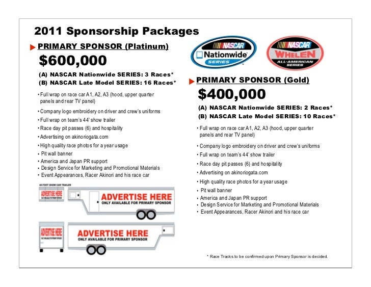 2011 2012 nascar driver akinori ogata help japan for Motorsports sponsorship proposal template