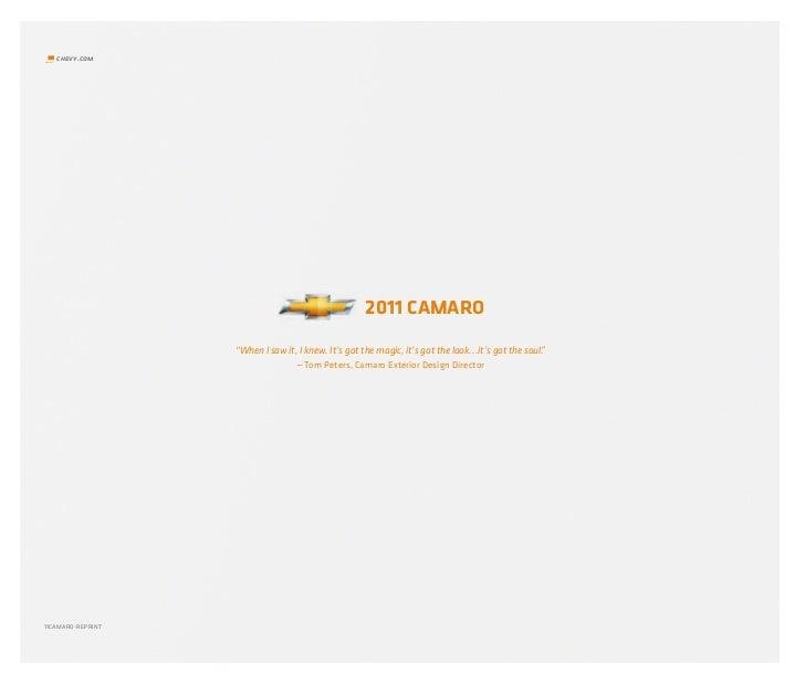 """chevy.com                                                     2011 CAMARO                   """"When I saw it, I knew. It's g..."""