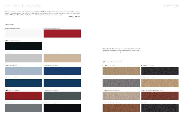 2011 bmw 328i colors