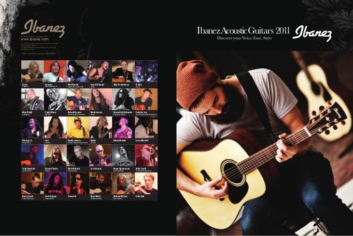 Ibanez Acoustic Guitars 2011                                                                                              ...