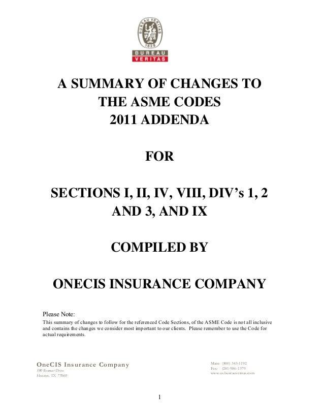 2011 addenda asme code synopsis by one cis insurance co - Asme sec viii div 2 ...
