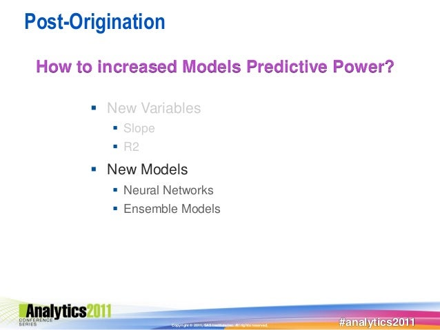 Post-Origination How to increased Models Predictive Power?        New Variables           Slope           R2        Ne...