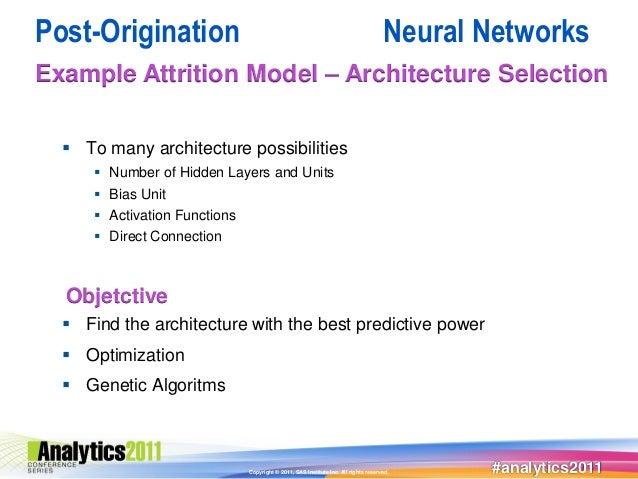 Post-Origination                                                                     Neural NetworksExample Attrition Mode...