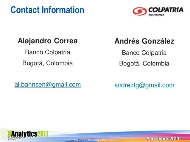 Contact Information Alejandro Correa                                                           Andrés González    Banco Co...