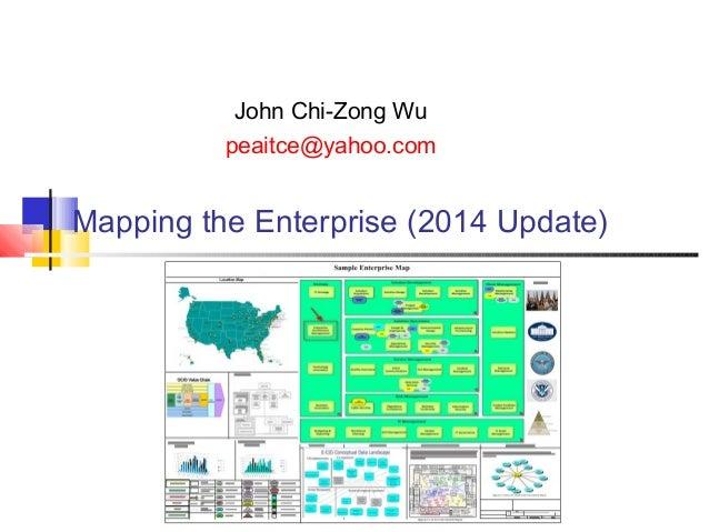 John Chi-Zong Wu peaitce@yahoo.com  Mapping the Enterprise (2014 Update)