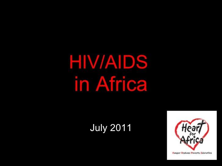 HIV/AIDS  in Africa July 2011