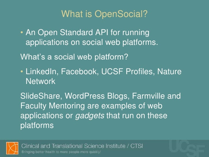 2011 amia opensocial presentation