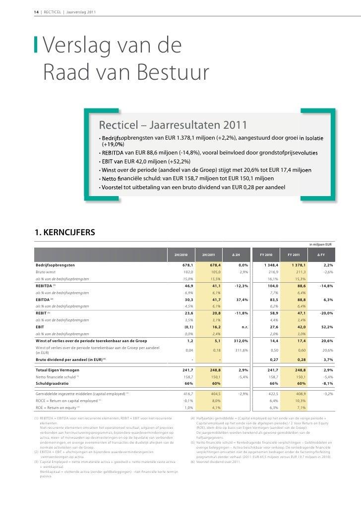 INLEIDING | 152. TOELICHTINGEN BIJ DE GECONSOLIDEERDE   RESULTATEN              Sales: from EUR 1,348.4van EUR 1.348,4 mil...