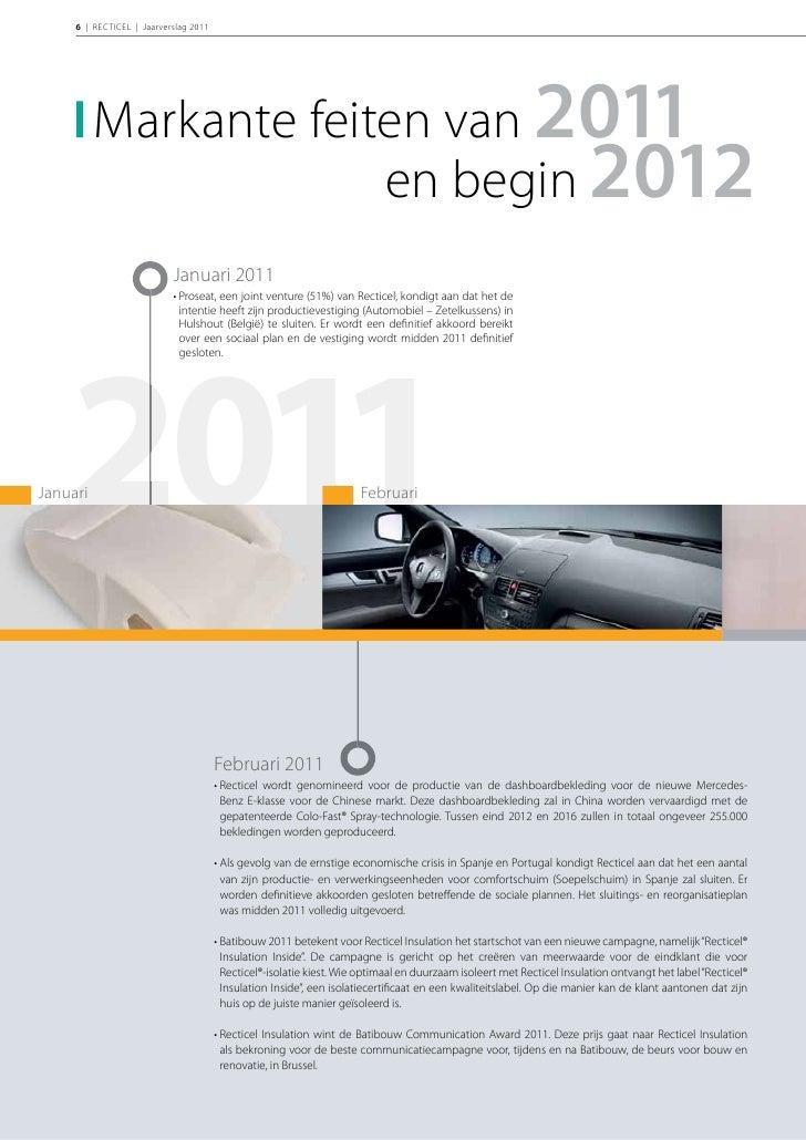 INLEIDING | 7                        Mei 2011                        • Recticel krijgt een nieuwe Chief Procurement       ...