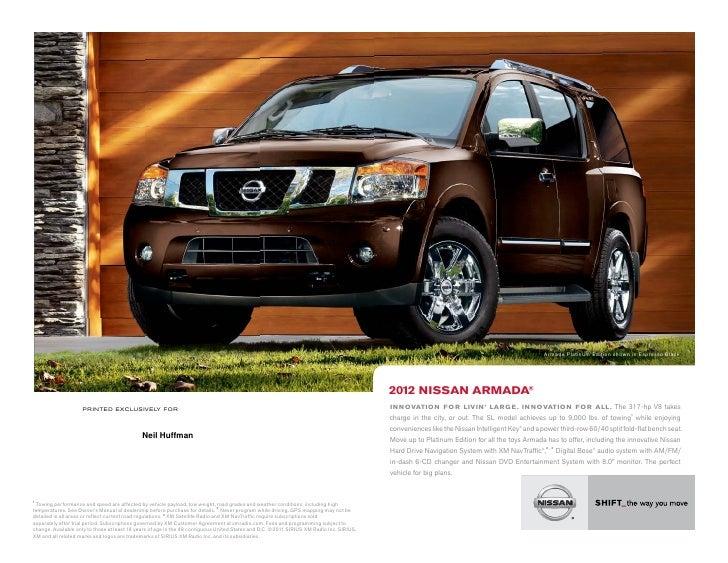 2011 Nissan Armada brochure by Neil Huffman Nissan Louisville KY