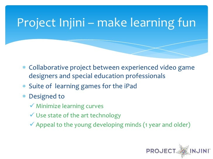 Project Injini and Autism Society National Conference  Slide 2