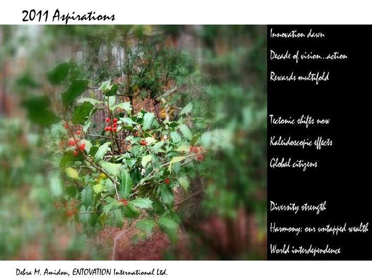 2011 Aspirations Debra M. Amidon, ENTOVATION International Ltd.