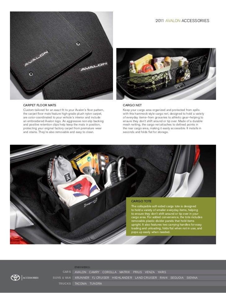 2011 Toyota Avalon Accessories Dallas
