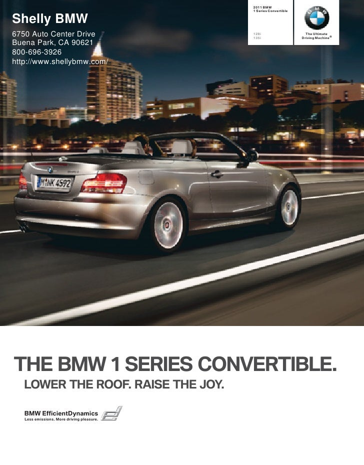 2011 BMW                                             1 Series Convertible   Shelly BMW 6750 Auto Center Drive             ...