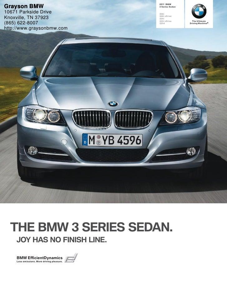 2011 BMW 3 Series Sedan - Grayson BMW Knoxville, TN