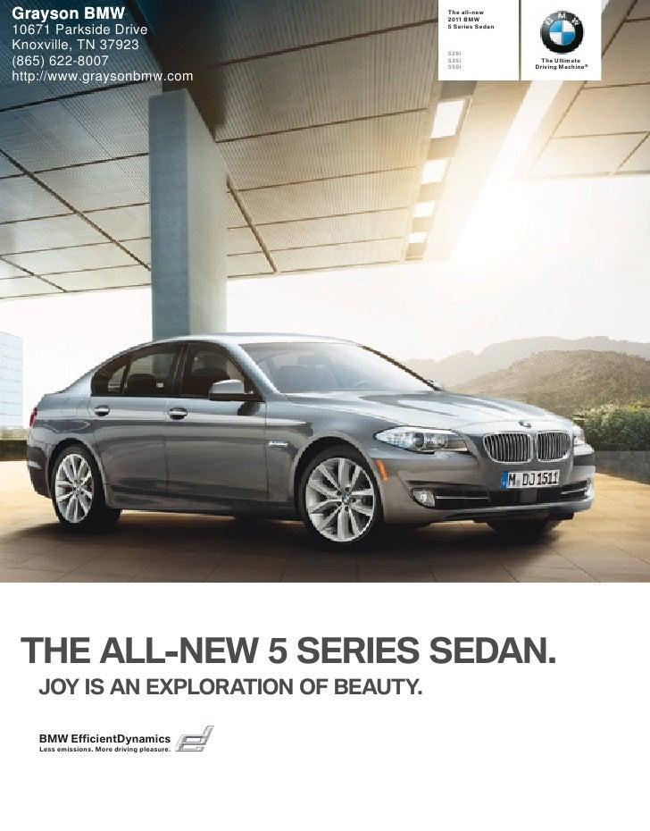2011 BMW 5 Series Sedan - Grayson BMW Knoxville, TN