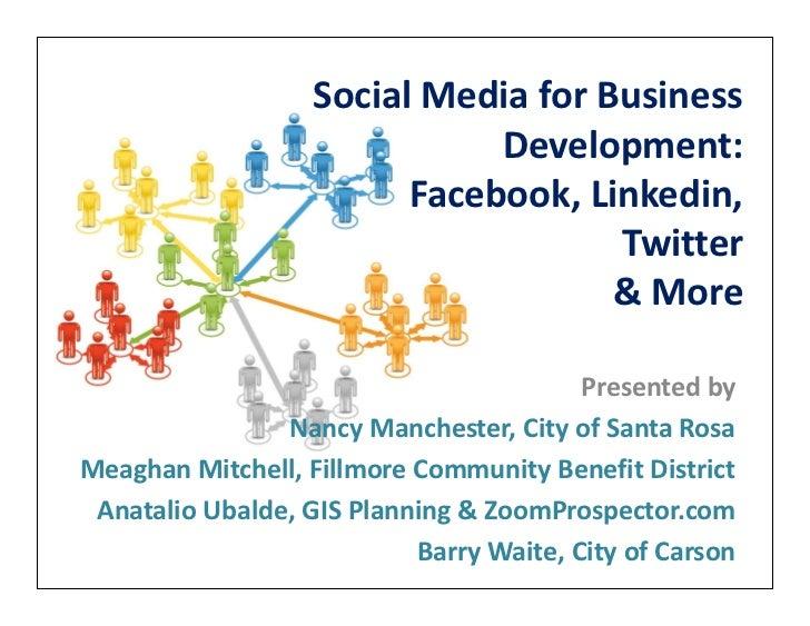 Social Media for Business                              Development:                         Facebook, Linkedin,           ...