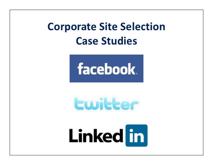 Corporate Site Selection     Case Studies