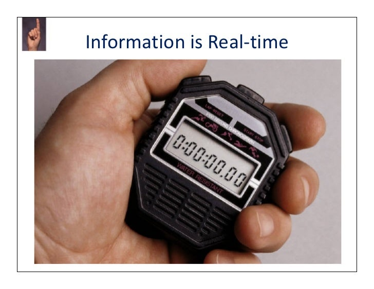 Information is Real-time