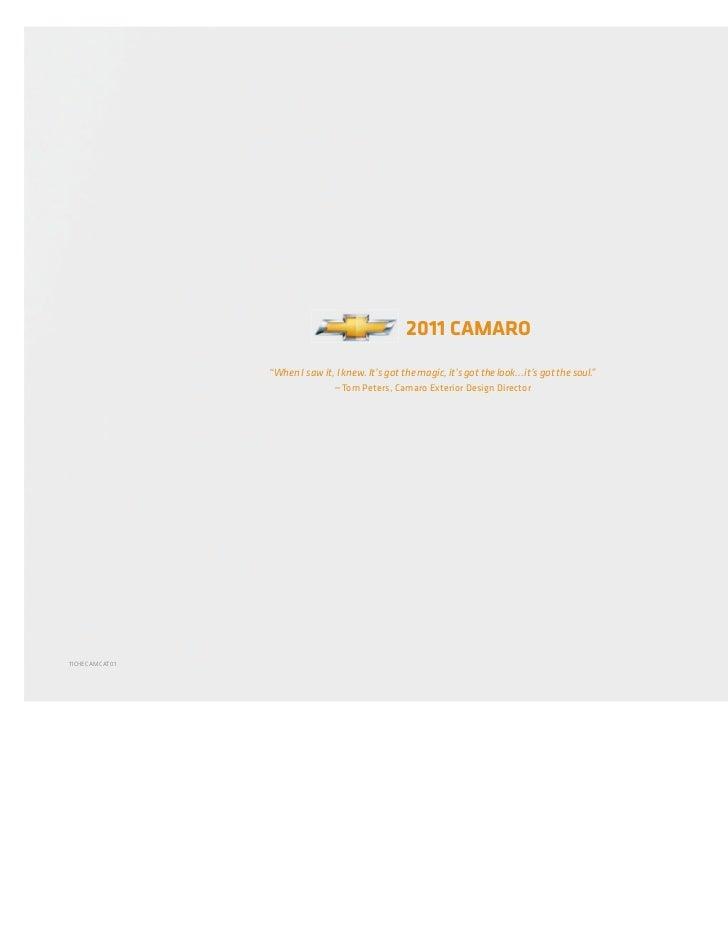 """chevy.com                                                  2011 CAMARO                """"When I saw it, I knew. It's got the..."""
