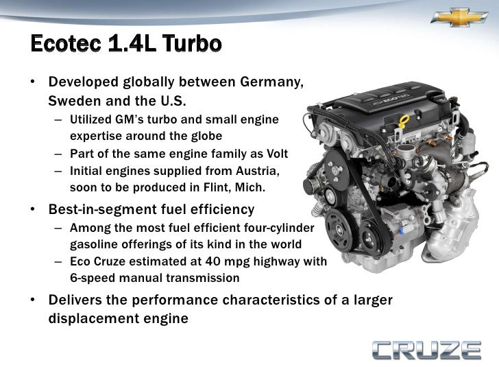 2011 chevy cruze engine specs