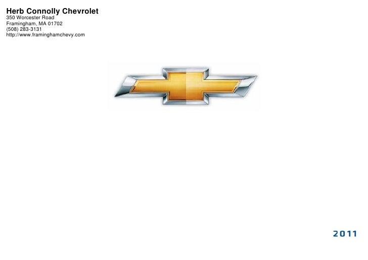 2011 Chevrolet Volt Herb Connolly Chevrolet Framingham Ma
