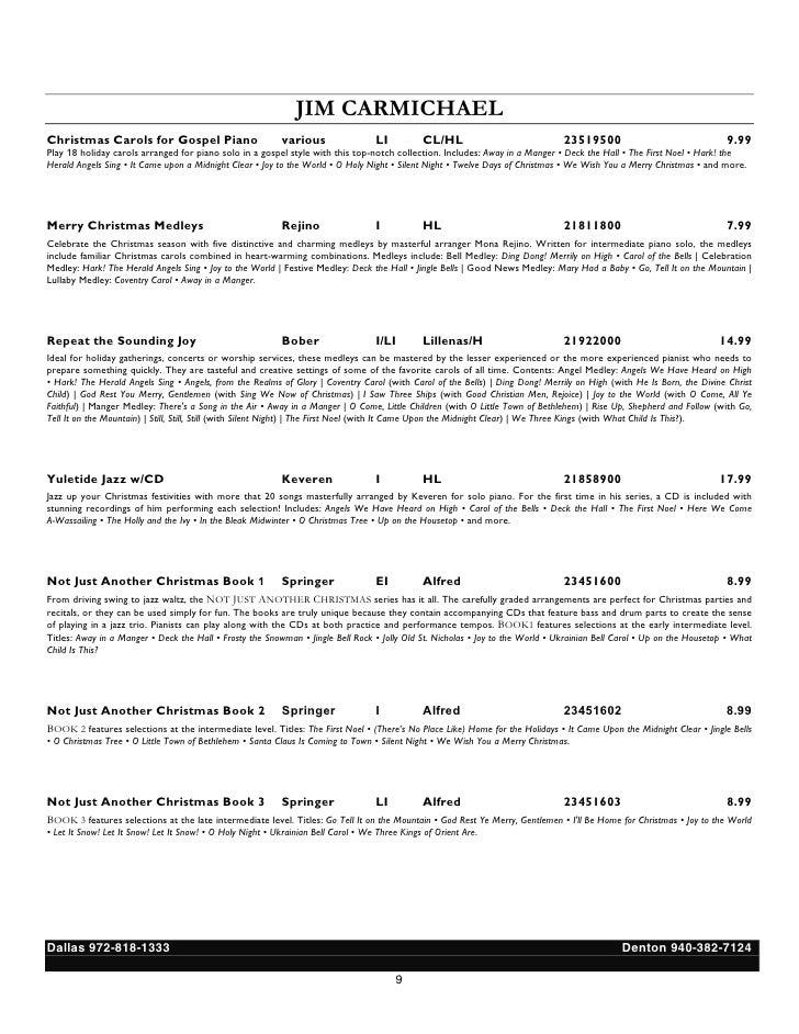 Piano o holy night advanced piano sheet music : Christmas: Piano Sheet Music Reading Session Handout 2011