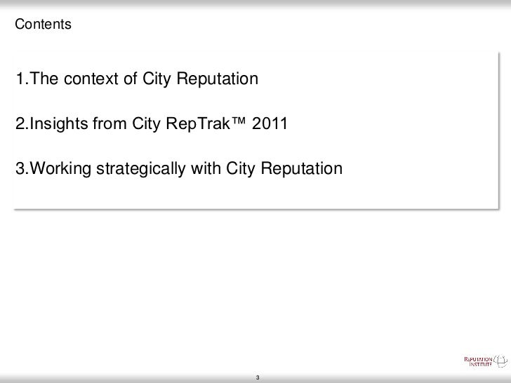 The world's most reputable cities in 2011  Slide 3