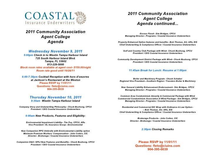 2011 Community Association                                                                                     Agent Colle...