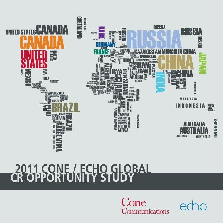 2011 CONE / ECHO GLOBALCR OPPORTUNITY STUDY                   2011 Cone/Echo Global CR Opportunity Study I 1