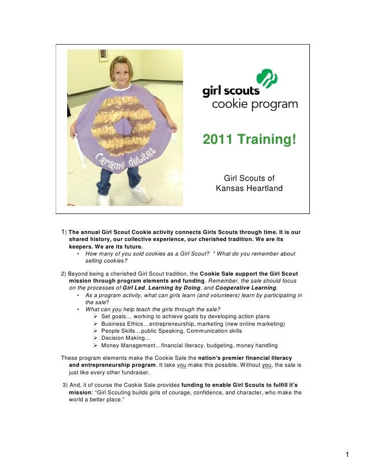 2011 Cookie Training Presentation