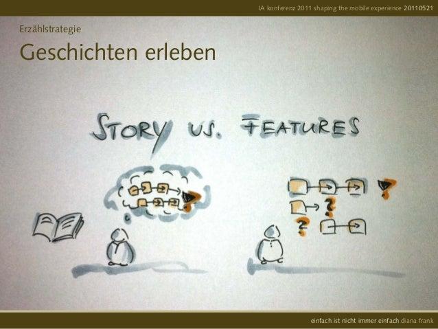 IA konferenz 2011 shaping the mobile experience 20110521einfach ist nicht immer einfach diana frankErzählstrategieGeschich...