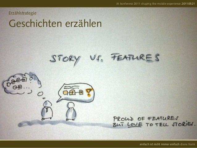 ErzählstrategieGeschichten erzählenIA konferenz 2011 shaping the mobile experience 20110521einfach ist nicht immer einfach...