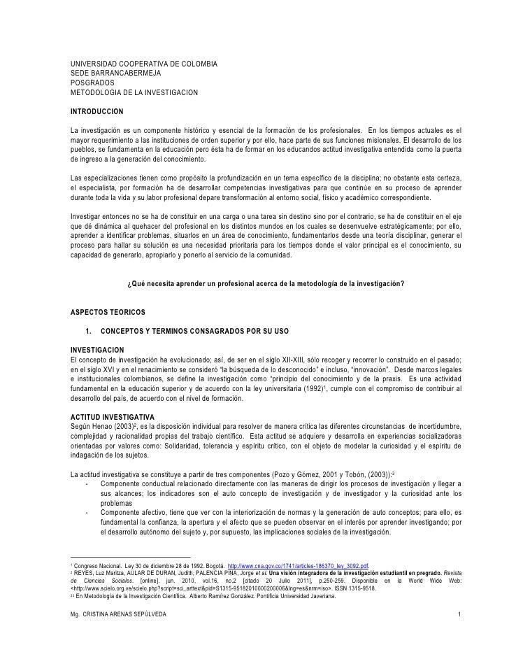 UNIVERSIDAD COOPERATIVA DE COLOMBIA<br />SEDE BARRANCABERMEJA<br />POSGRADOS<br />METODOLOGIA DE LA INVESTIGACION<br />INT...