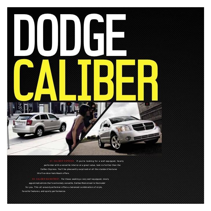 2011 dodge caliber e brochure