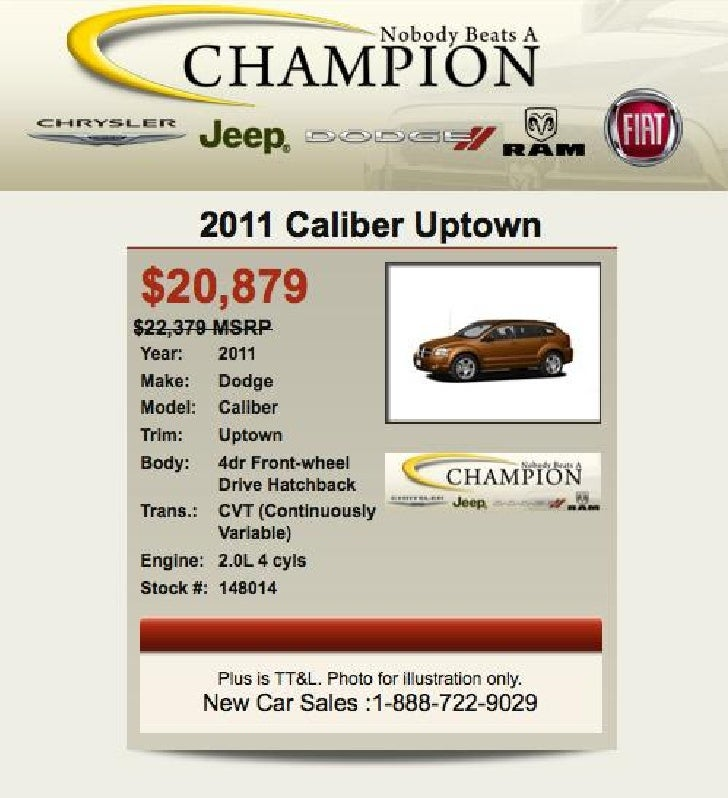 2011 Dodge Caliber Uptown For Sale IN