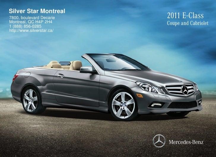 2011 Mercedes Benz E550 Coupe Silver Star Montreal Qc Canada