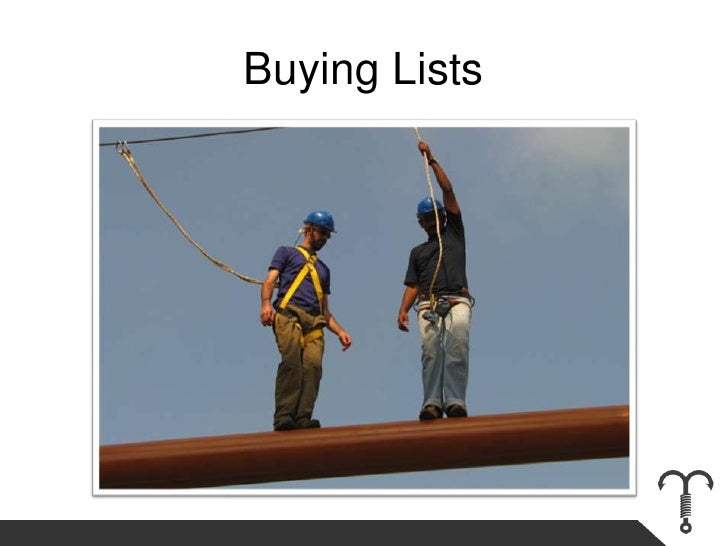 Buying Lists<br />