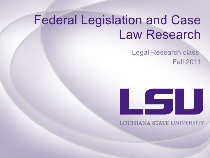 federal law research