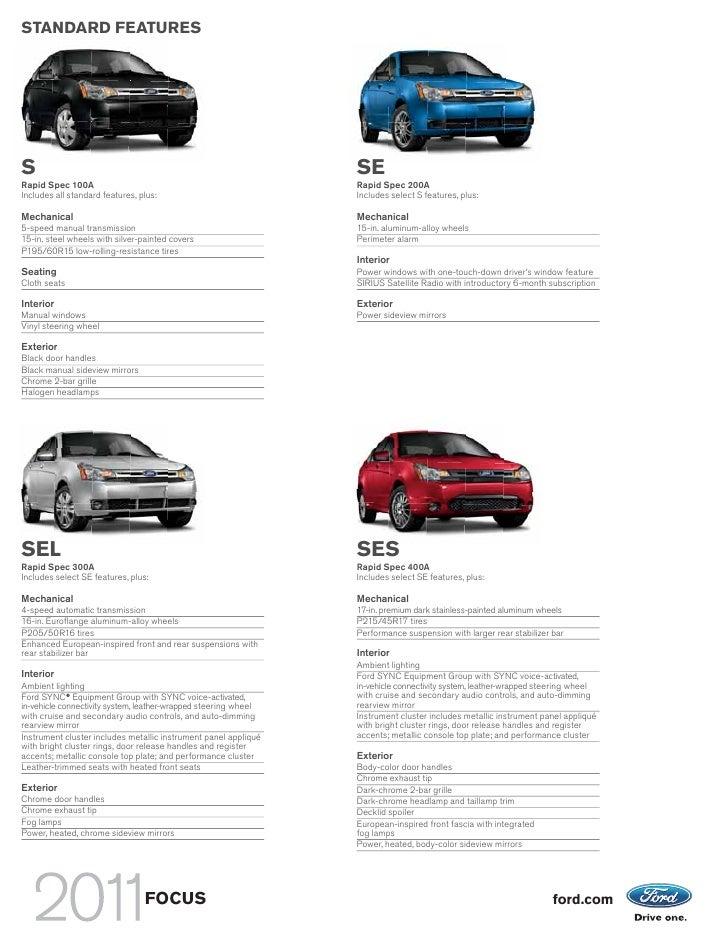 2011 Focus Sedan Brochure