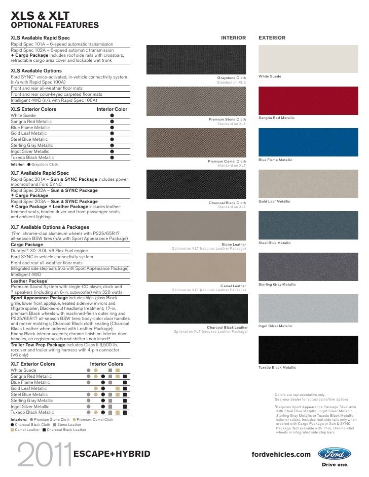 Ford Escape Colors